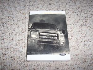 2014 Ford F 250 Super Duty Truck Owner Manual King Ranch