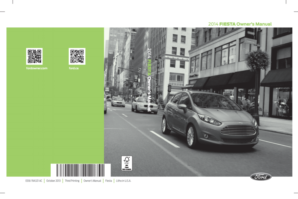 2014 Ford FIESTA Owner s Manual Sign Up Download