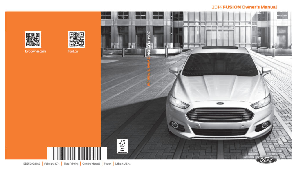 2014 Ford Fusion Owner 39 s Manual OwnerManual