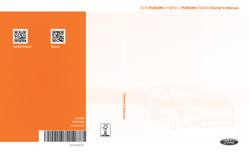 2019 Ford Fusion Hybrid Owner 39 s Manual Free PDF Ford