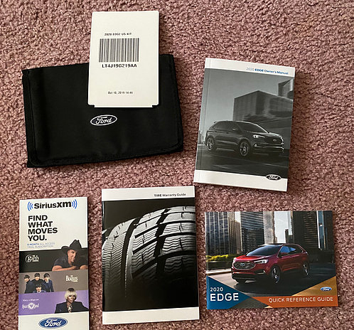 2020 Ford Edge US Owners Manuals Kit LT4J19G219AA With